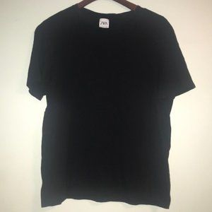 Zara Man Black Reg. Fit Tee